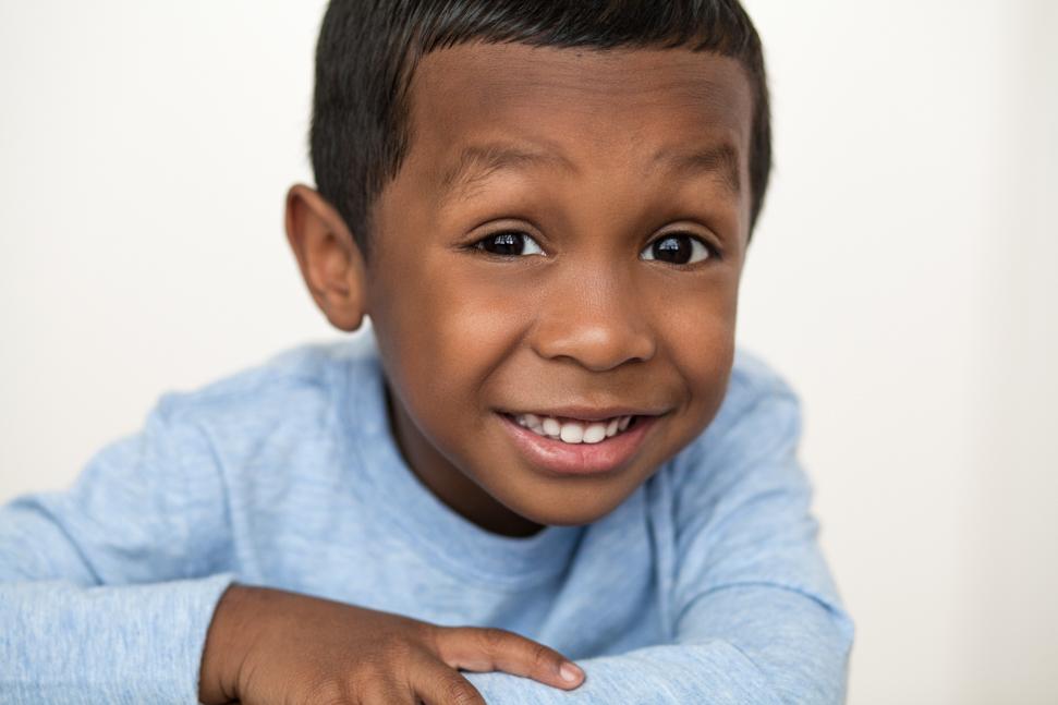 smiling toddler boy Toronto children's headshots 2402