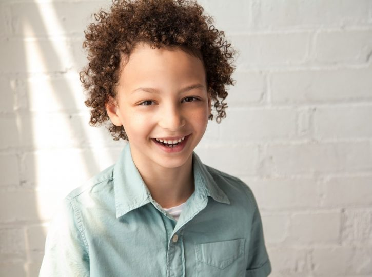 smiling boy Toronto children's headshots 4132