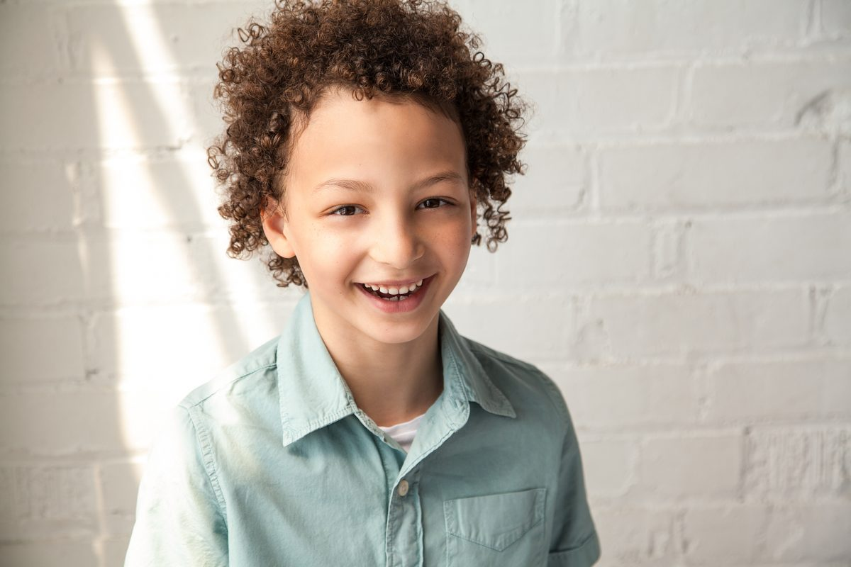 smiling boy Toronto children's headshots 4132