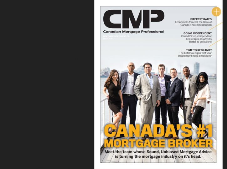 CMP magazine cover with Mortgage Brokers from corporate photography session