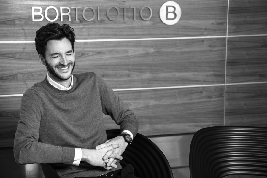 smiling architect in black and white for corporate photography toronto 5772