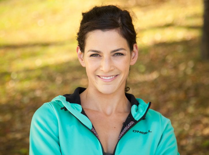 female fitness trainer outdoor shot for LinkedIn headshot and personal branding 2236