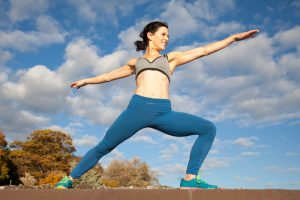 Warrior pose by Lauren, outside, photography for personal branding 2361