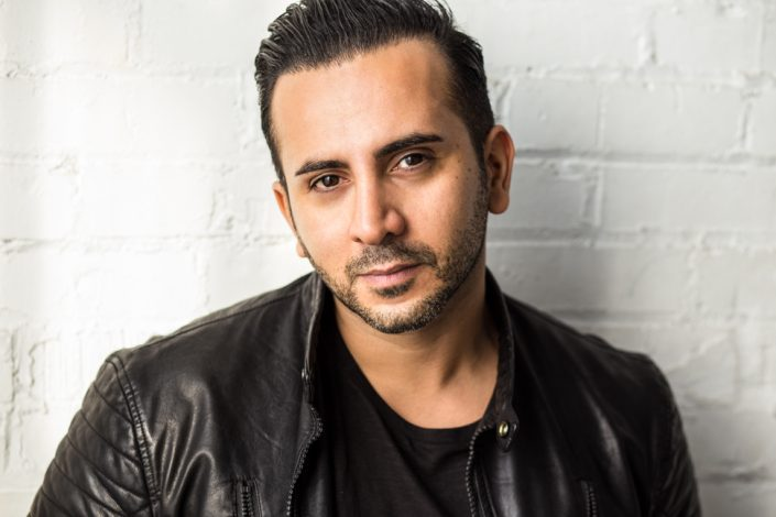 Soroush looking intense, male for actor headshots Toronto 3889