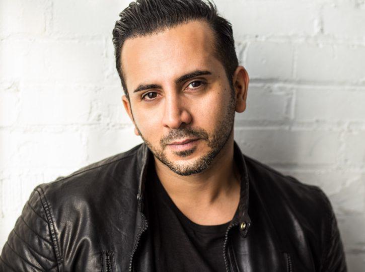 Soroush looking intense, male for actor headshots Toronto 3889