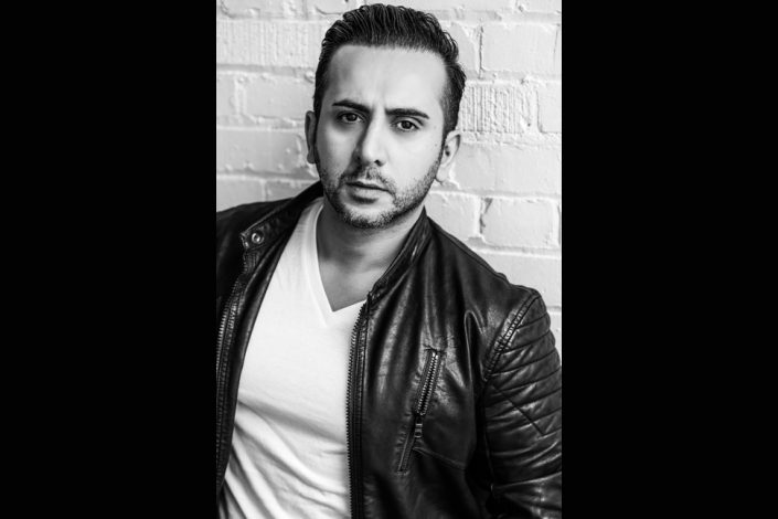 Soroush, male actor wearing biker jacket for portrait photographer Toronto 3905