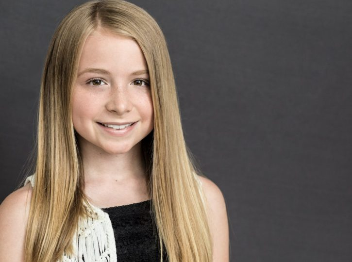 female actor with long blonde hair for children's headshots Toronto 4974