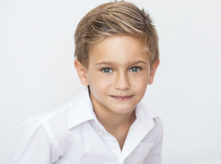 blond boy actor for children's headshots Toronto 6664