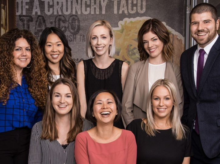 Taco Bell executive team for corporate photography Toronto 3112