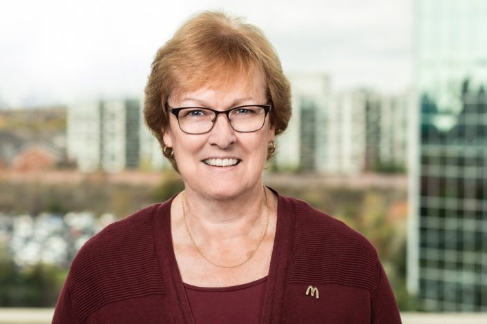 MacDonald's employee smiling for corporate headshots Toronoto 1728