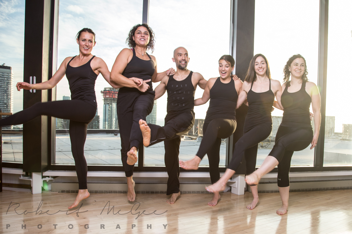 Toronto Athletic Club Pilates group shot branding photography 6279