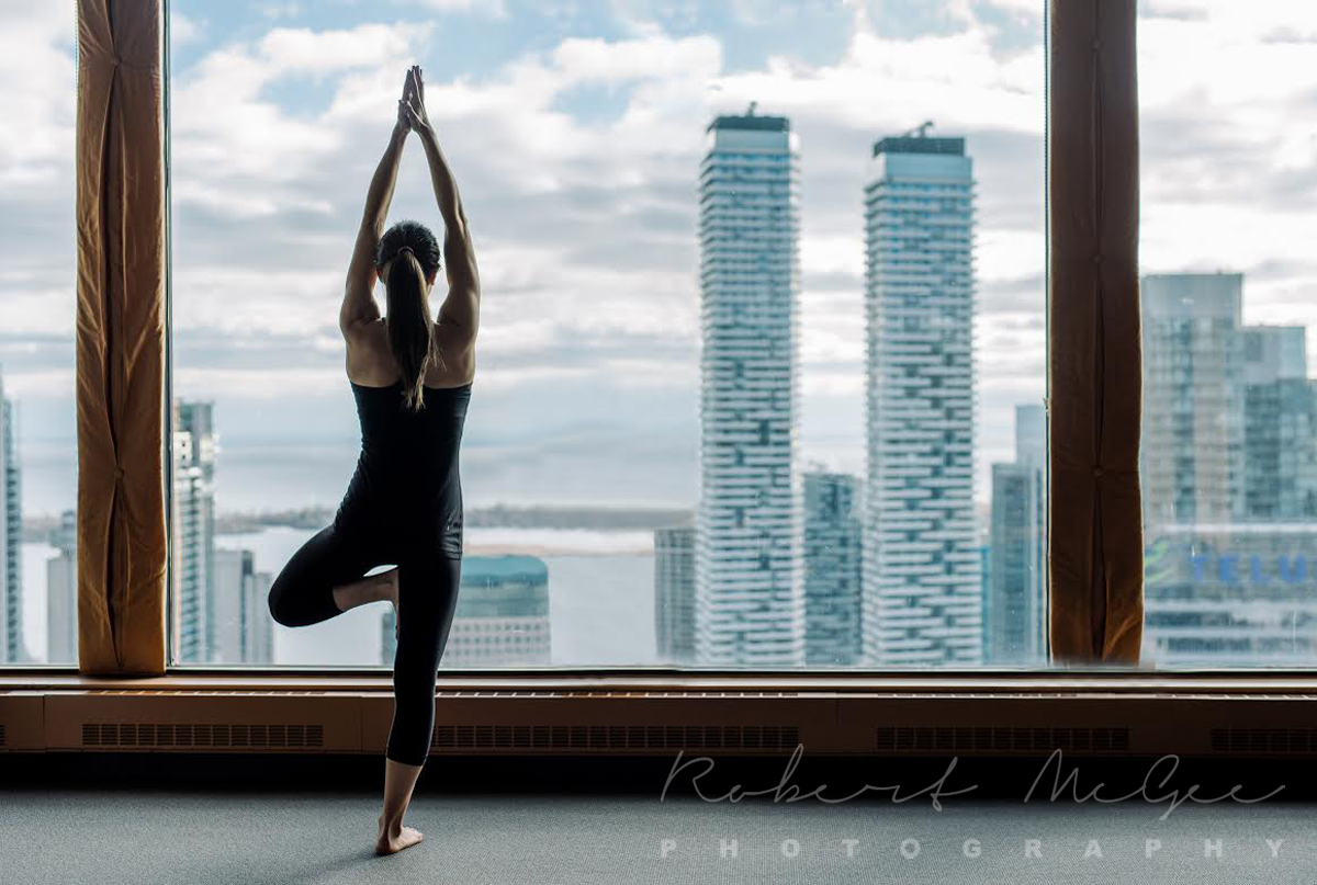 View from Toronto Athletic Club pilates 2 corporate photography