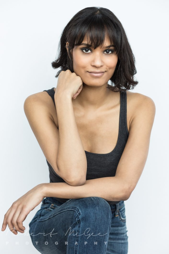 female in grey tank and jeans Toronto actor headshots 0O7C1182