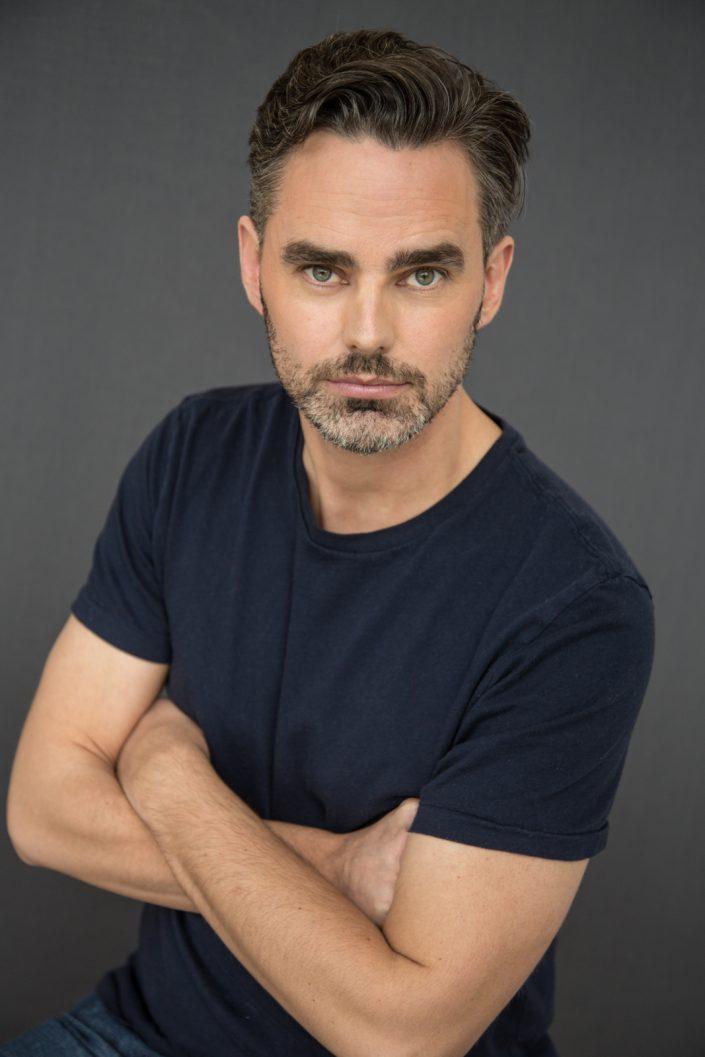 Trevor in dark blue shirt for actor headshots Toronto 0O7C4690