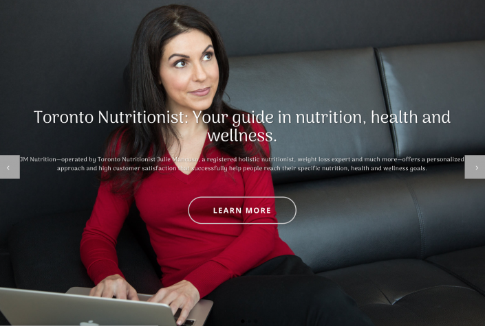 Julie nutrition branding photography for website 4478