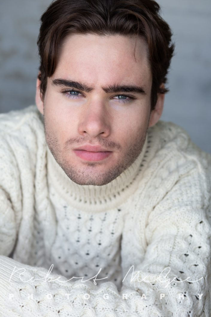 Andrew in cream sweater for actor headshots Toronto 0O7C2532