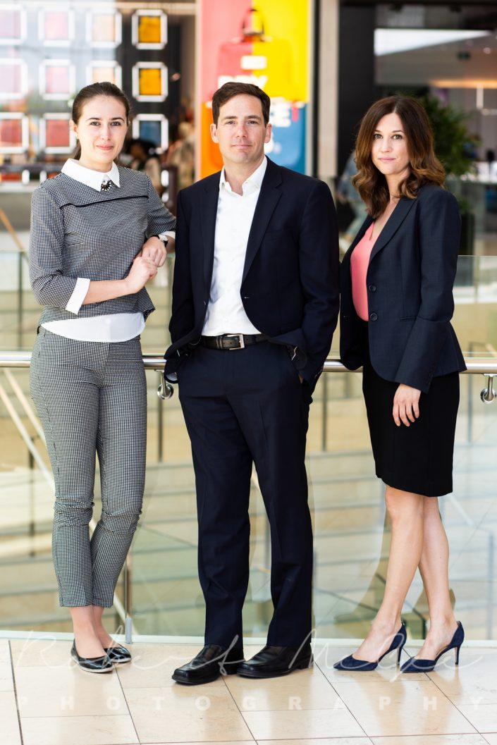 full length image of 3 professionals in business attire for corporate photography Toronto 0O7C0116