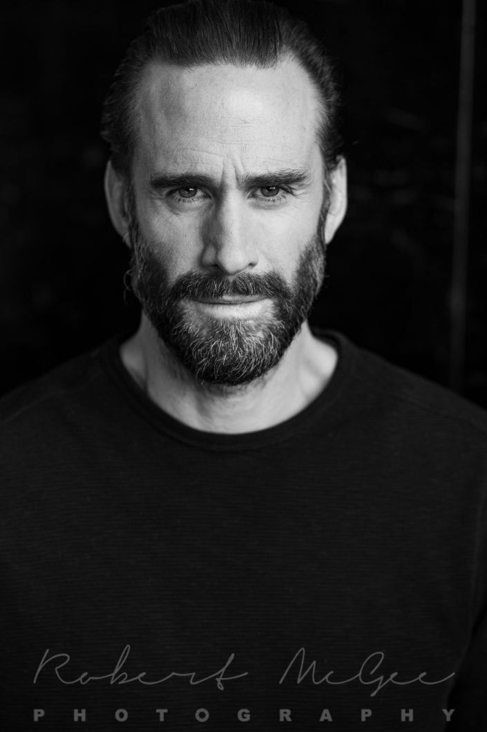 Joseph Fiennes new actor headshot in black and white 019A0239